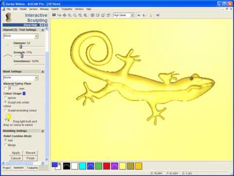 ArtCAM Pro 2009 Logo Modelling