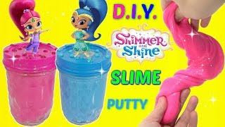 D.I.Y. NICKELODEON SHIMMER & SHINE Do It Yourself Glue & Liquid Starch Slime Putty, Kids Toy Craft