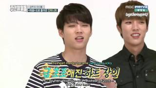 [ENG] 160921 MBCEvery1 'Weekly Idol' - INFINITE (1/2)