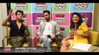 Funny Interview Of Atif Aslam And Sonu Nigam Must watch
