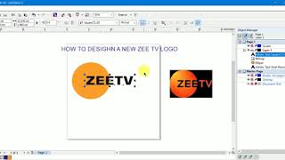 how to design new logo of zee tv n