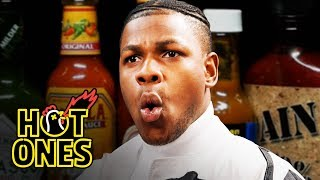 John Boyega Summons the Force While Eating Spicy Wings | Hot Ones