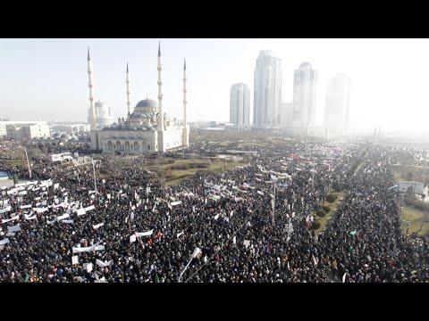 'We love Prophet' Massive anti-Charlie Hebdo protest hits Chechnya