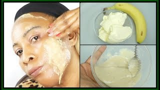 BANANA AND BUTTER  FACE MASK FOR CLEAR GLOWING  SPOTLESS SKIN  Khichi Beauty