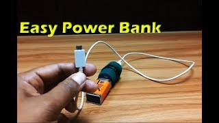 How To Make Emergency Mobile Phone Portable Charger | Diy Powerbank