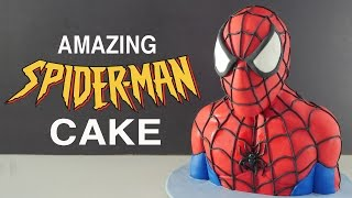 AMAZING 3D SPIDERMAN CAKE How To Cook That Ann Reardon homecoming birthday cake