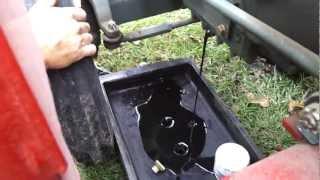 yanmar tractor oil change part 1