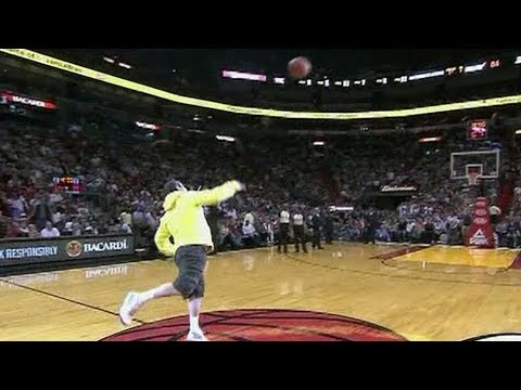 NBA Fans Making Half Court Shots For Money Cars Compilation