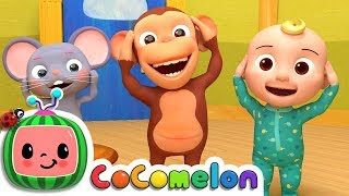 Head Shoulders Knees & Toes | Cocomelon (ABCkidTV) Nursery Rhymes & Kids Songs