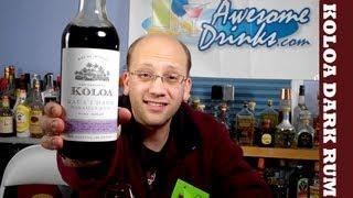 Koloa Kauai Dark Rum Review