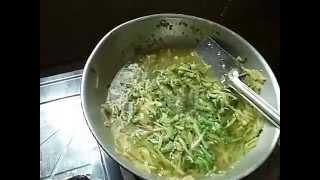 Bangladeshi special korolla vegetable &alu (potato) vegetable  mix vaji recipe