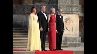 President Trump arrives at Blenheim palace as he visits the UK the PM and the Queen