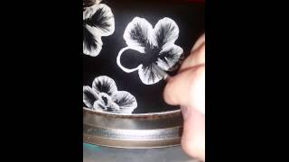 Brush Embroidery Royal icing Cake