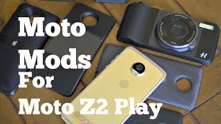 Moto Mods for Moto Z2 Play - Hands-on Overview