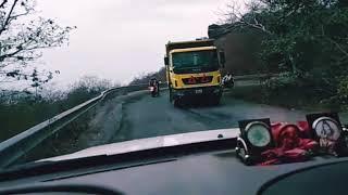 Dangerous Roads of REWA, Bardaha Ghati Sirmour, Rewa