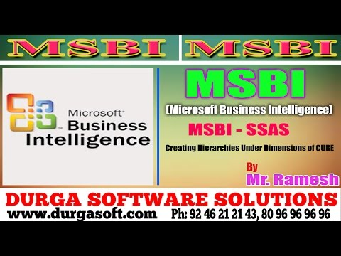 MSBI || online training||MSBI - SSAS || Creating Hierarchies Under Dimensions of CUBE by Ramesh