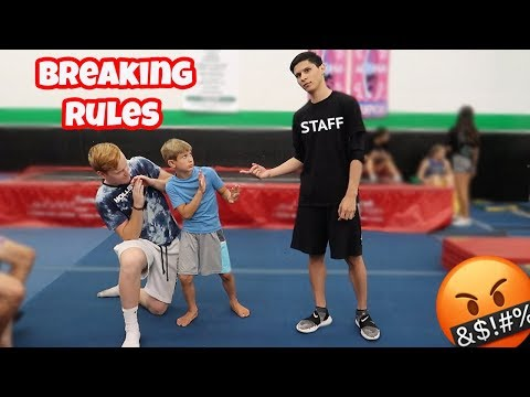 BREAKING ALL THE RULES AT A GYMNASTICS GYM