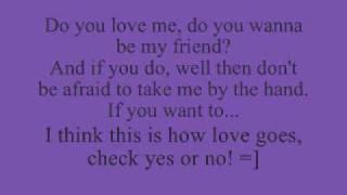 Check yes or no (George Strait) lyrics