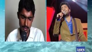 Young Pakistani boy singing in Arijit Singh voice