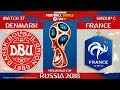 Denmark vs France ⚽️ 🔴 | FIFA World Cup Russia 2018 | Match 37 | 26/06/2018