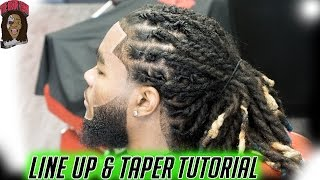 Barber Tutorial: Taper Line Up On Dreads HD