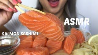 ASMR [ Salmon Sashimi Sushi ] Eating Sound   NO Talking  