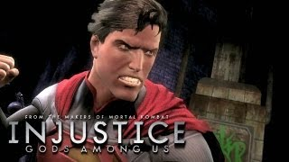 Injustice: Gods Among Us - 'Superman vs Green Lantern Gameplay' TRUE-HD QUALITY