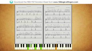 Sanam Re (Arijit Singh) Piano Staff Notations with ABC Notes and Chords | www.10MagicalFingers.com