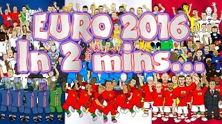 EURO 2016 in 2 MINUTES!!! (Highlights, goals, cartoon montage)