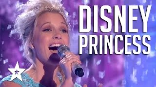 Real Life Disney Princesses Sing Frozen Song Let It Go | Got Talent Global