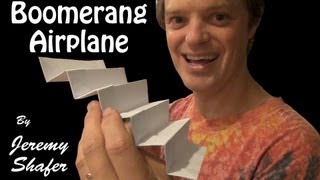 Origami Super Boomerang Airplane
