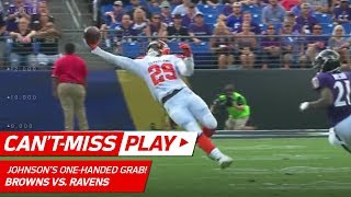 Duke Johnson's Insane One-Handed Grab! | Can't-Miss Play | NFL Wk 2 Highlights