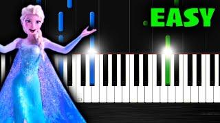 Let It Go (Frozen) - EASY Piano Tutorial by PlutaX