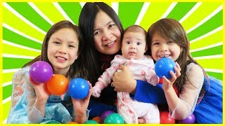 Learn Colors with Baby and Balls, Finger Family Song Nursery for Kids, Best Learning Videos for Kids