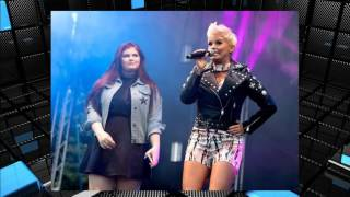 Kerry Katona's eldest daughter Molly joins Atomic Kitten on stage to perform at the Big Day Out fest