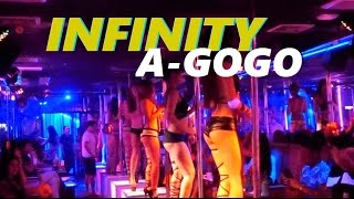 A LOOK INSIDE AN A-GOGO IN WALKING STREET, PATTAYA - Infinity agogo Docu - vlog