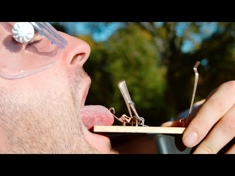 Tongue in a Mouse Trap The Slow Mo Guys