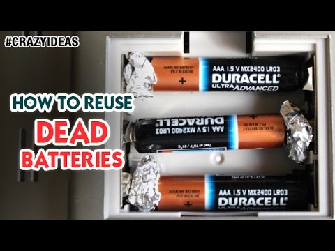 How to Reuse Dead Batteries | Best Battery Life Hack | Science and Technology | Crazy Ideas