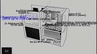 Thermaltake Core V21 liquid, double case & hardware animation