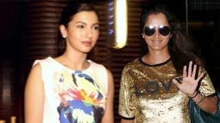 Gauhar Khan & Sania Mirza Spotted At Estella