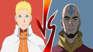 Adult Avatar Aang VS Hokage Naruto!! - Who is Stronger?