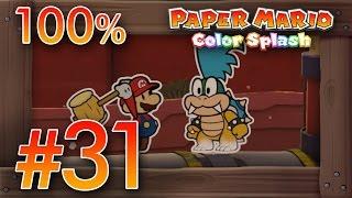 Paper Mario Color Splash 100% Walkthrough Part 31 | Sunset Express [100%] & Boss Larry