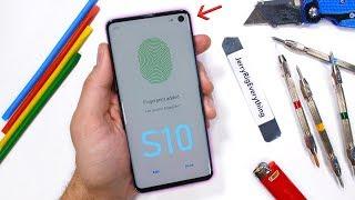 Galaxy S10 Durability Test - Ultrasonic Fingerprint Scratched?!