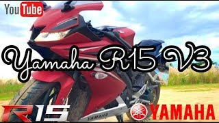 YAMAHA R15 V3 2017 Review | Matte Red | First look  2017 ✅