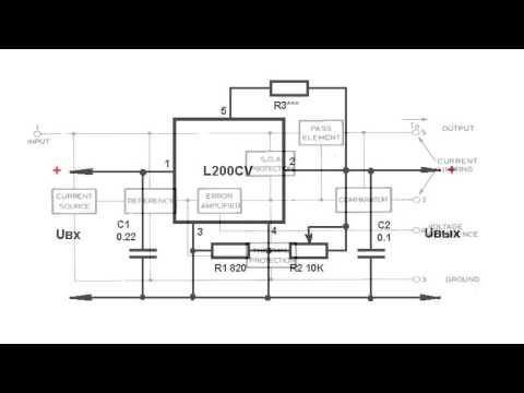 L200 стабилизатор схема