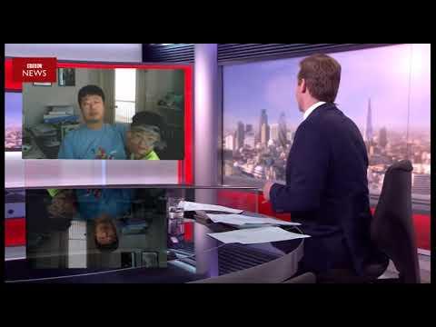 Children interrupt BBC news interview parody