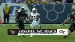 HIGHLIGHTS: Georgia Tech Downs Wake Forest | Stadium