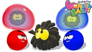 Learn Colors With Squishy Bubbles   Funny WonderBalls For Kids