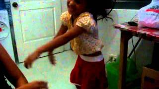 Little Monkey Girl Dancing