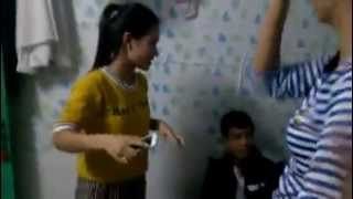 Vietnam female student one two three naked in motel room